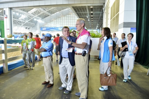 IOC President at Xinzhuang Equestrian Venue
